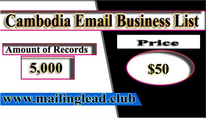 Cambodia Email Business List