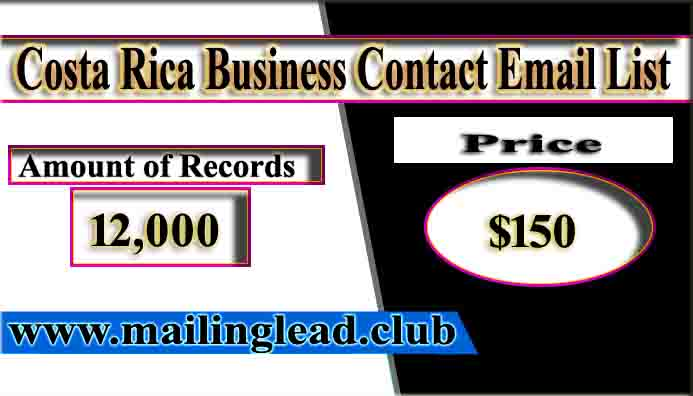 Costa Rica Business Contact Email List