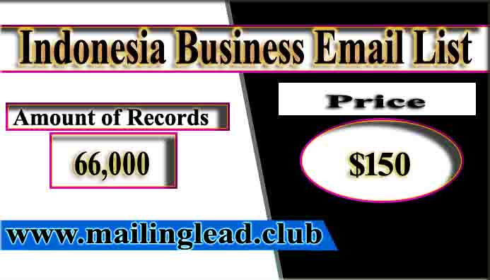 Indonesia Business Email List