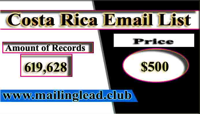 Costa Rica Email List