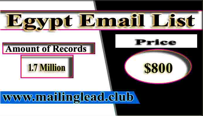 Egypt Email List